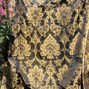 Tessuto Damascato Gothic Black Corn Gold